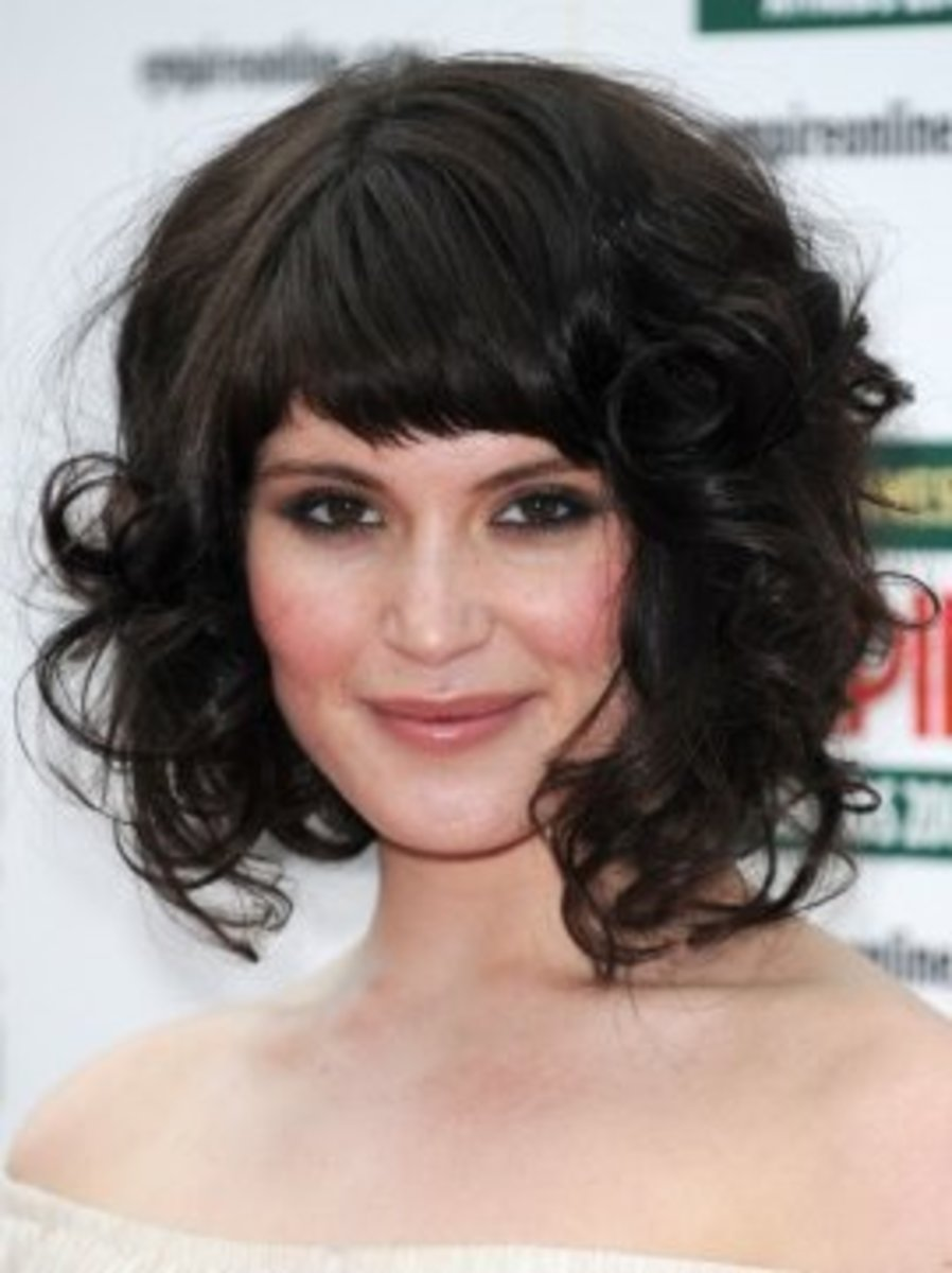 Chic medium-length curly hair