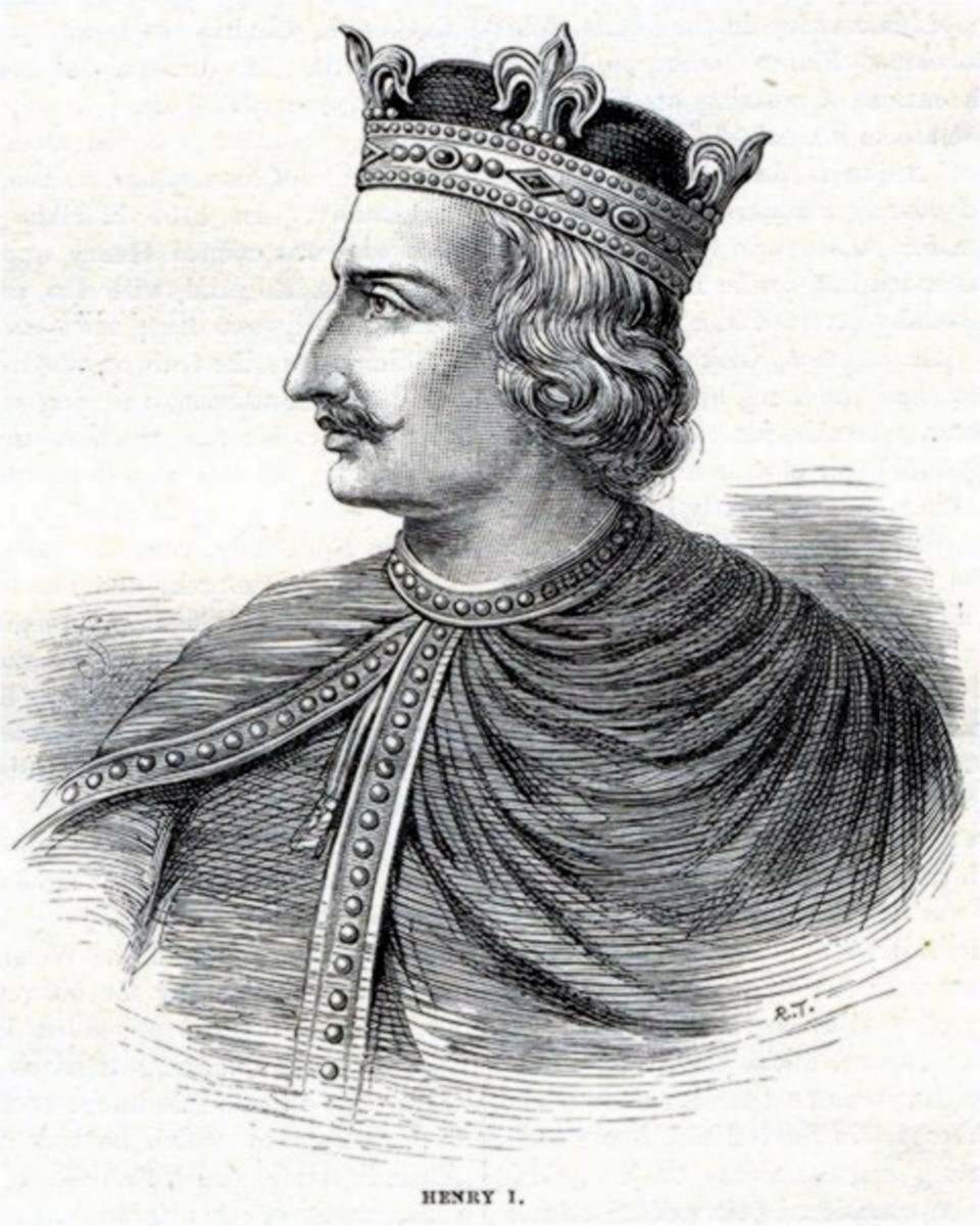 Henry I of England. Attribution: Cassell's History of England 1902.