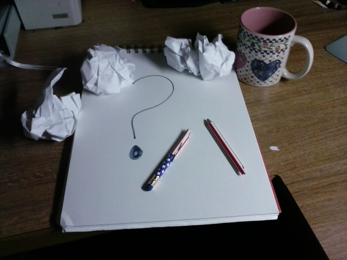 The frustration of writers block.