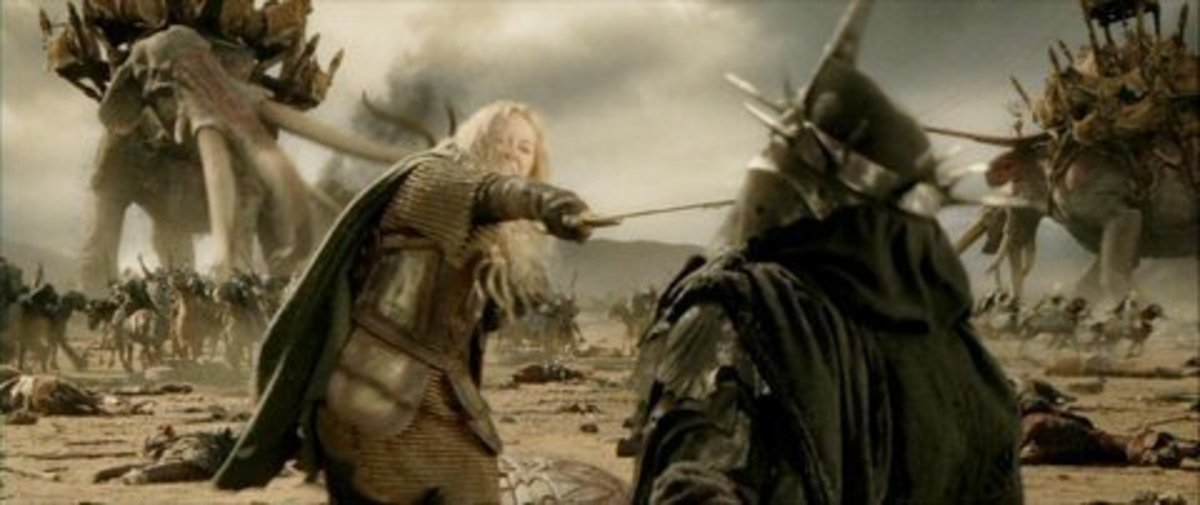 From New Line Cinema.  Though still critisized by some for her love for Aragorn and her happy ending with Faramir, Eowyn is still regarded as a feminist icon in movies for her battlefield achievements.