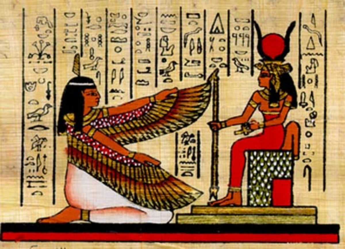 Maat and Hathor