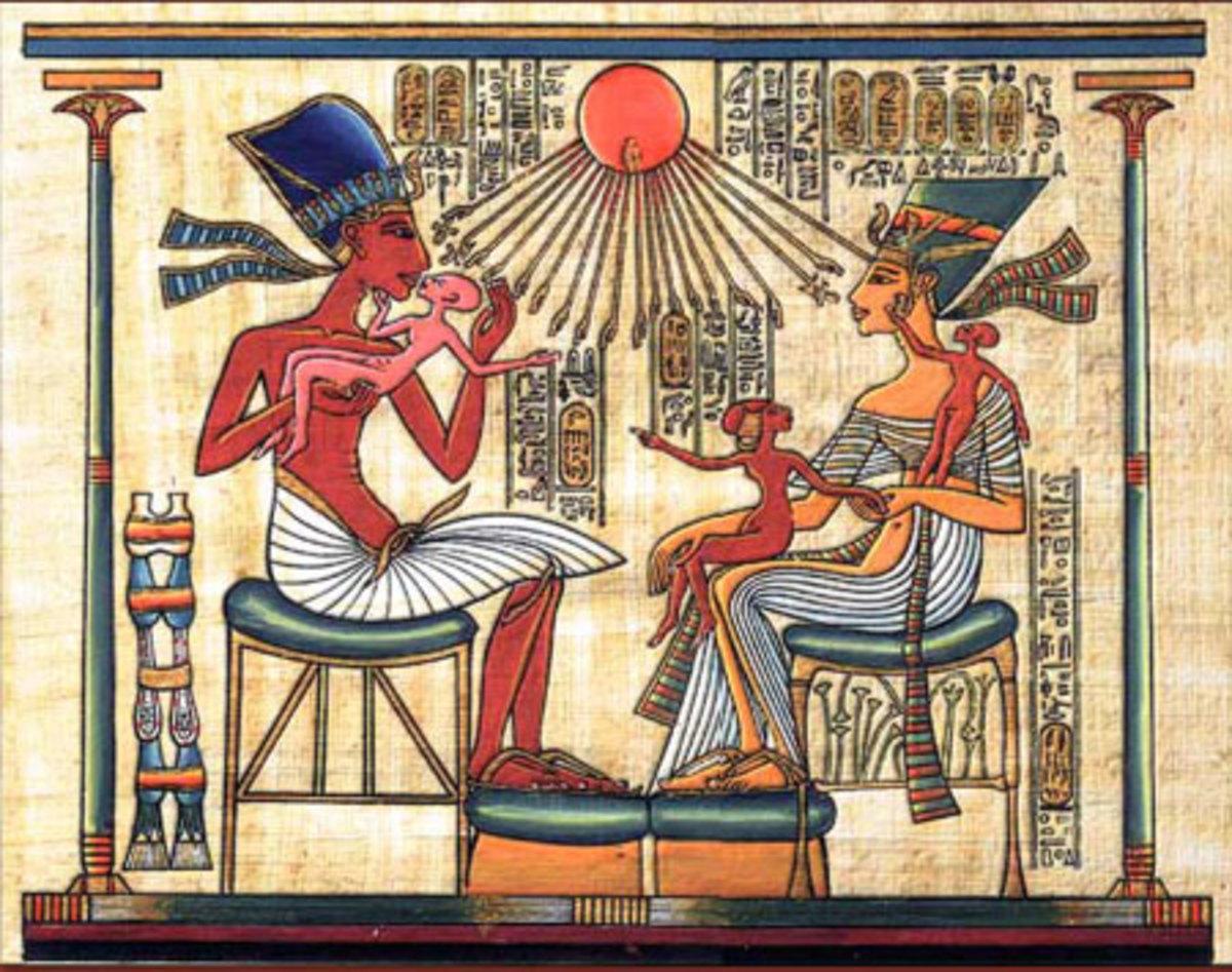 Akhenaton and Nefertari