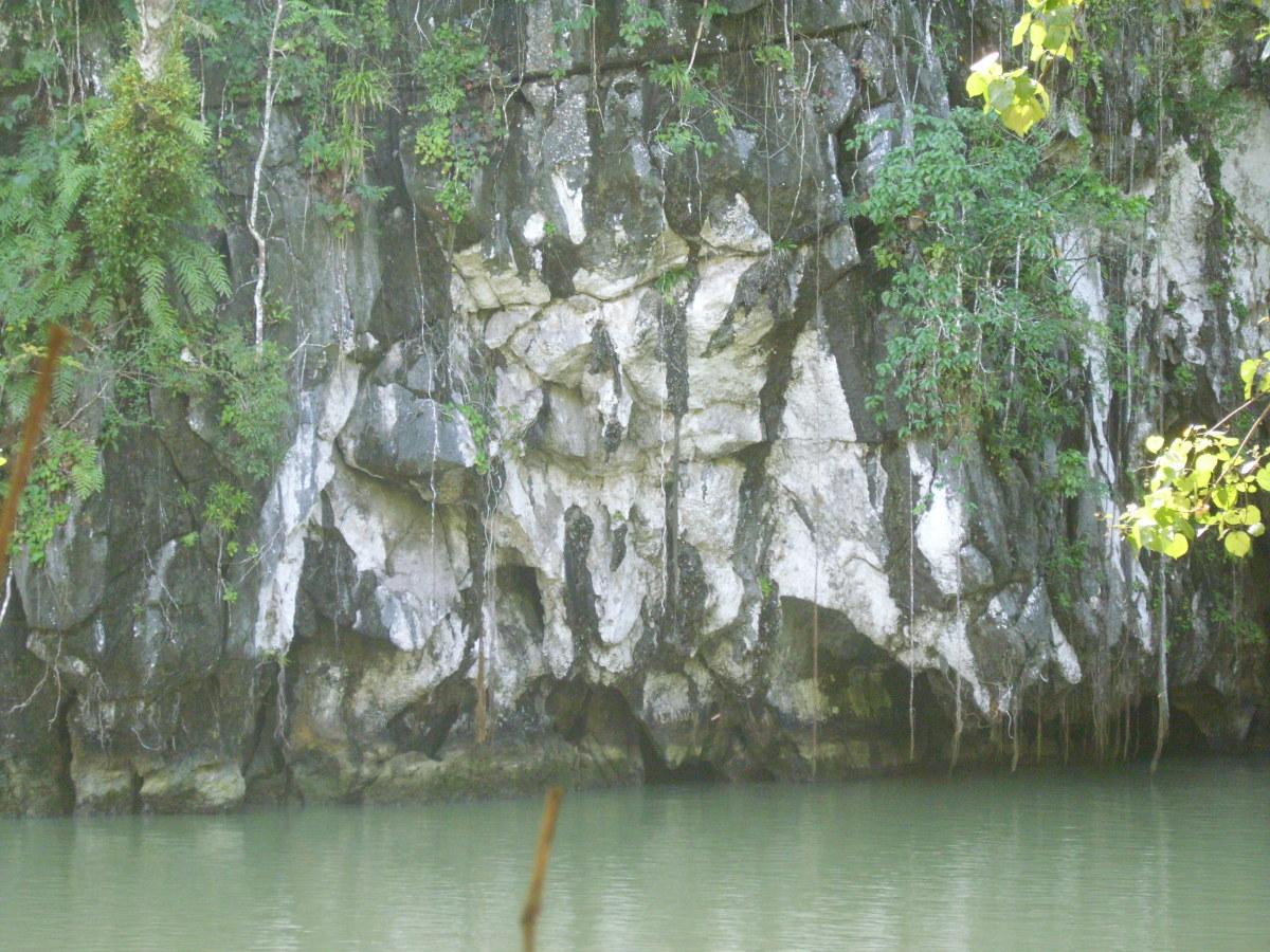 Limestone karst at the entrance.