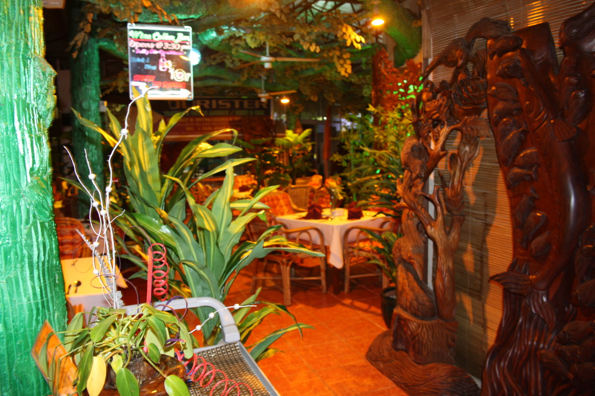 The restaurant entrance.