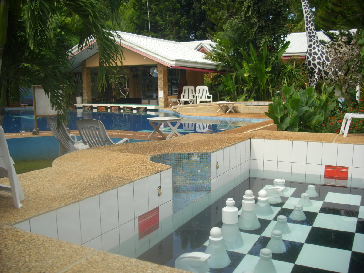 Chess and swimming pool