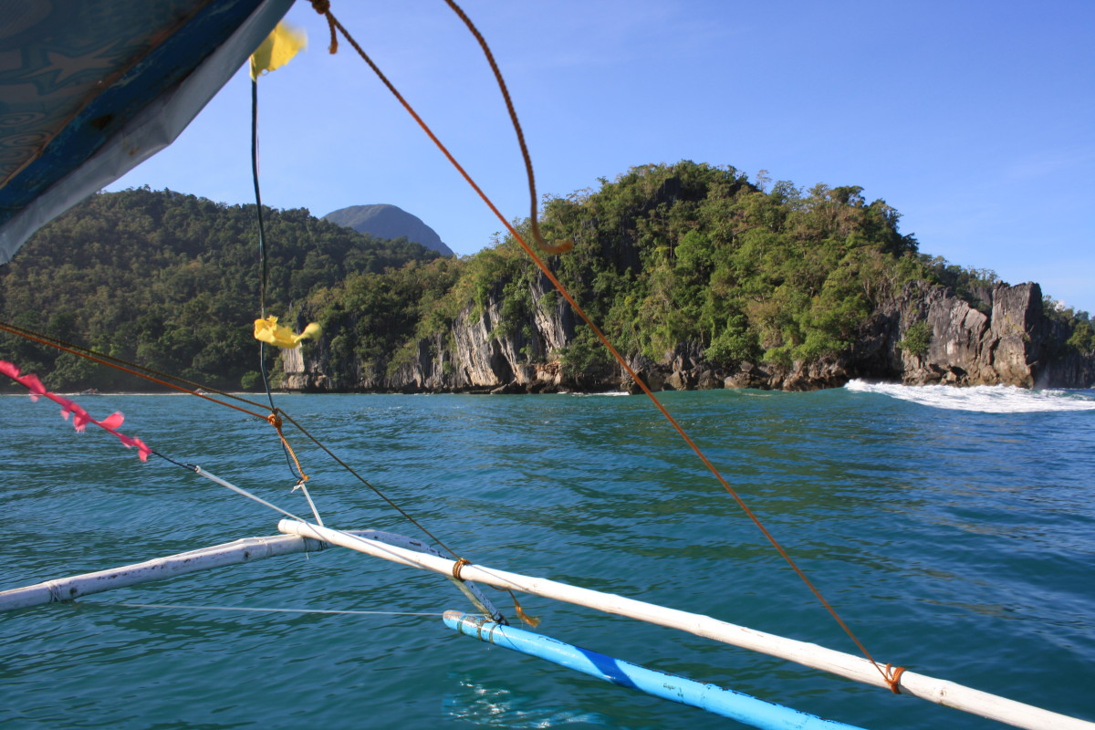 On the way to the Underground River.