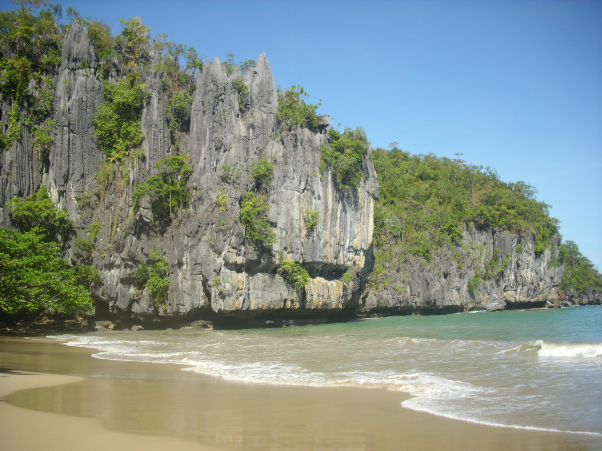 The limestone karst mountain landscape.