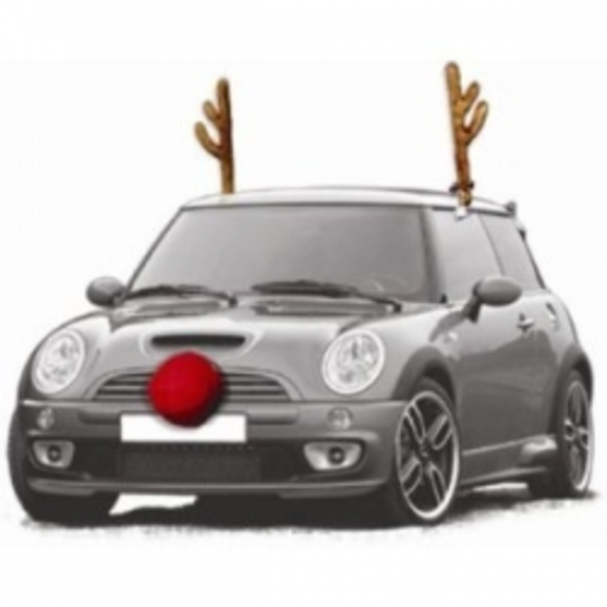 Car Reindeer Antlers and Nose and Other Christmas Car Decorations