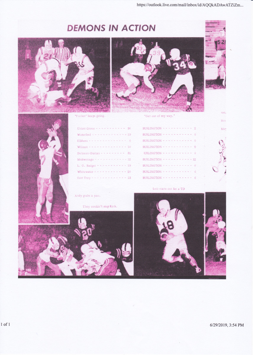 Game Photos during the 1960 Season.  The author is wearing number 21.