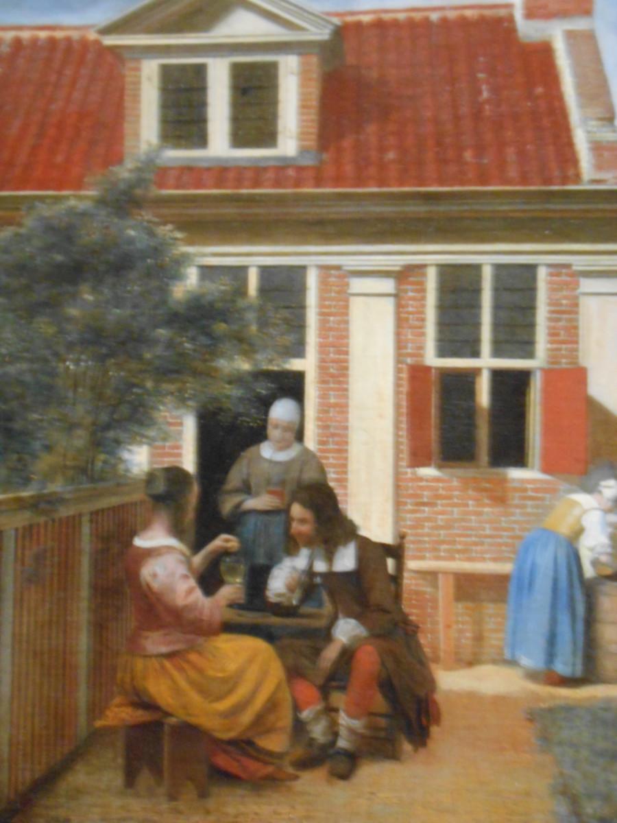 Beautiful courtyard painting by Dutch artist Pieter de Hooch