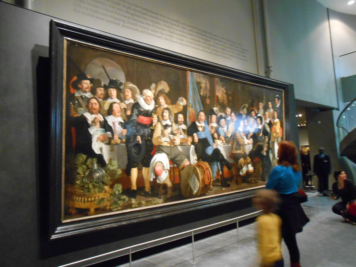 My favorite painting at the Rijk's Museum. The painter was Bartholomeus van der Helst. The figures looked as though they would come alive and begin speaking to you. They were quite realistic.