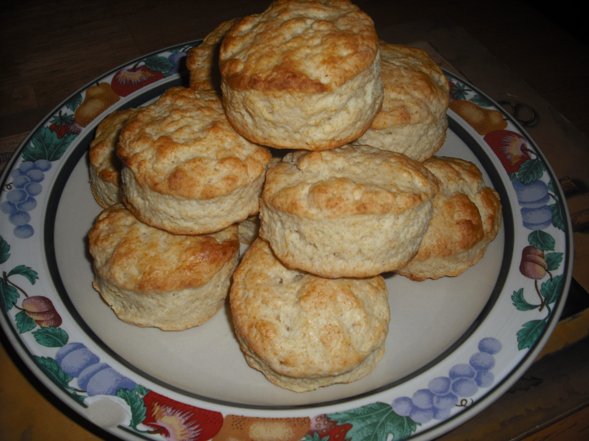 Homemade biscuits, fresh from the oven!