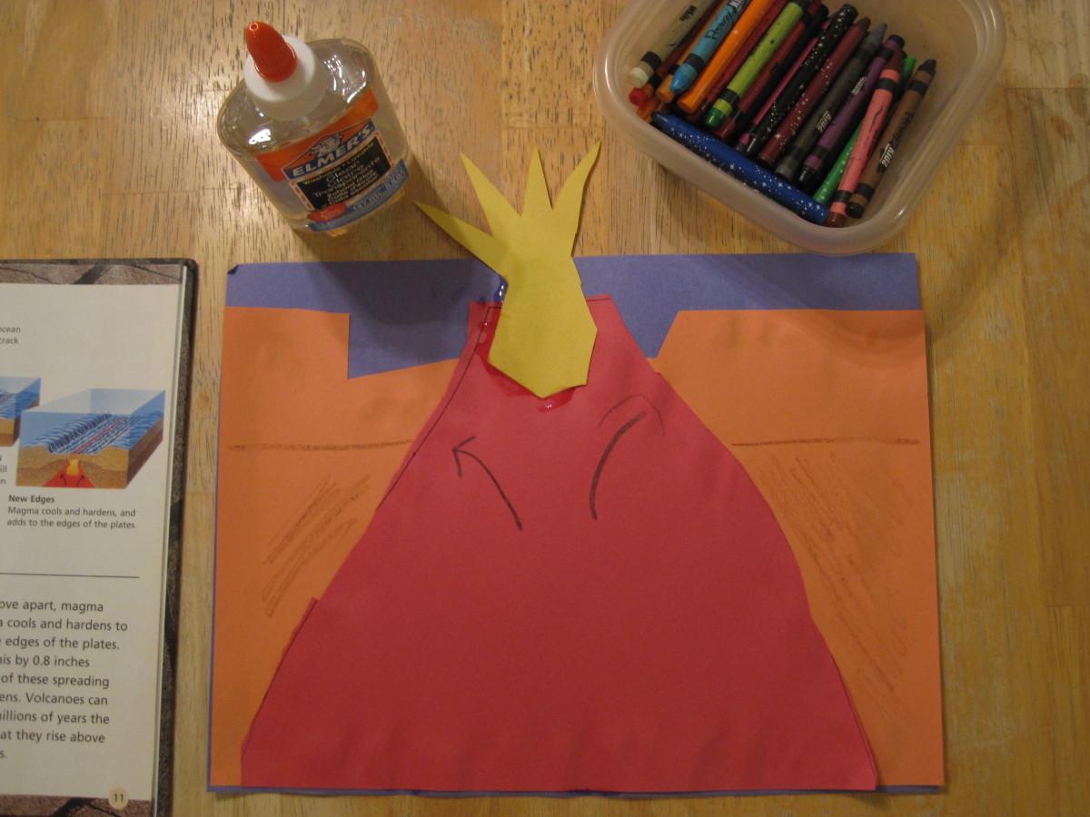 Construction Paper Volcano