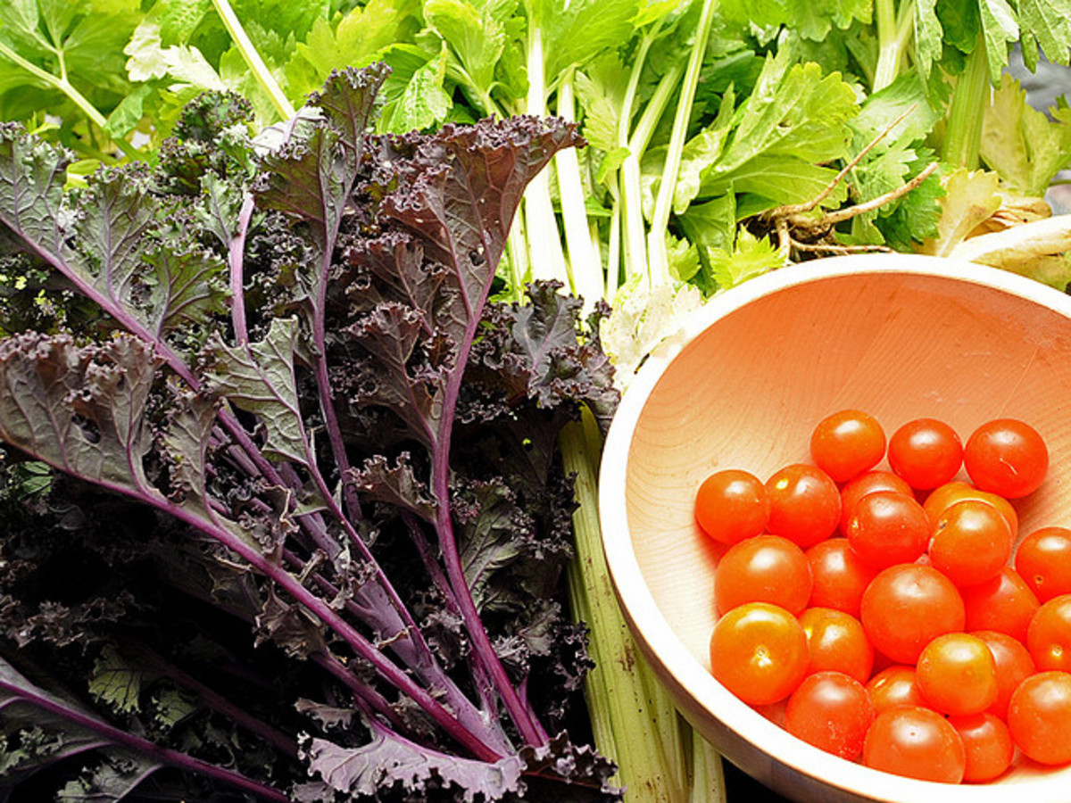 By eating local organic produce the benefits of a healthy vegetarian lifestyle can be multiplied.