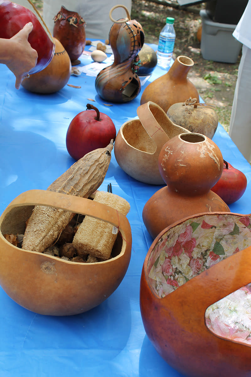 Gourds were natural items used for bowls, and ladles.