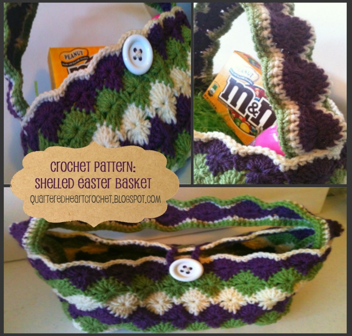 Shelled Crochet Easter Basket Pattern