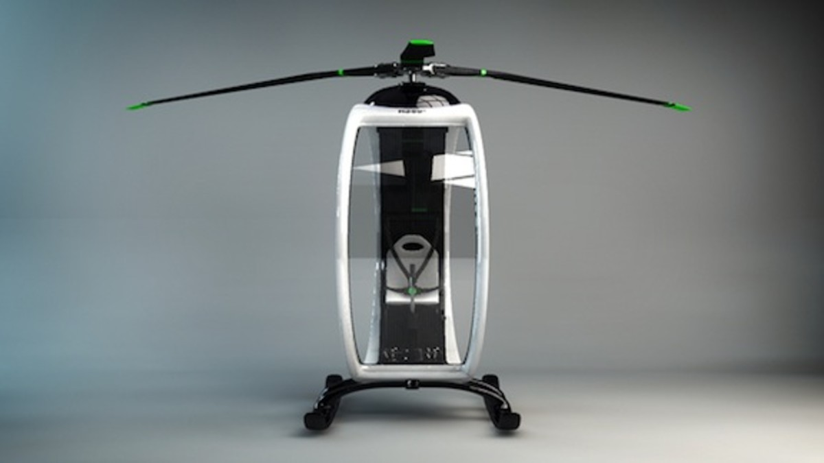 Ultramodern ZERO Personal Helicopter (front look)
