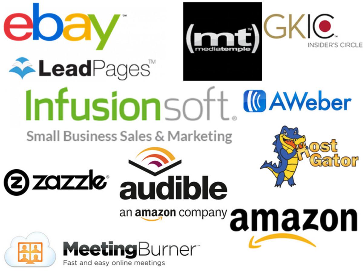 Popular affiliate companies