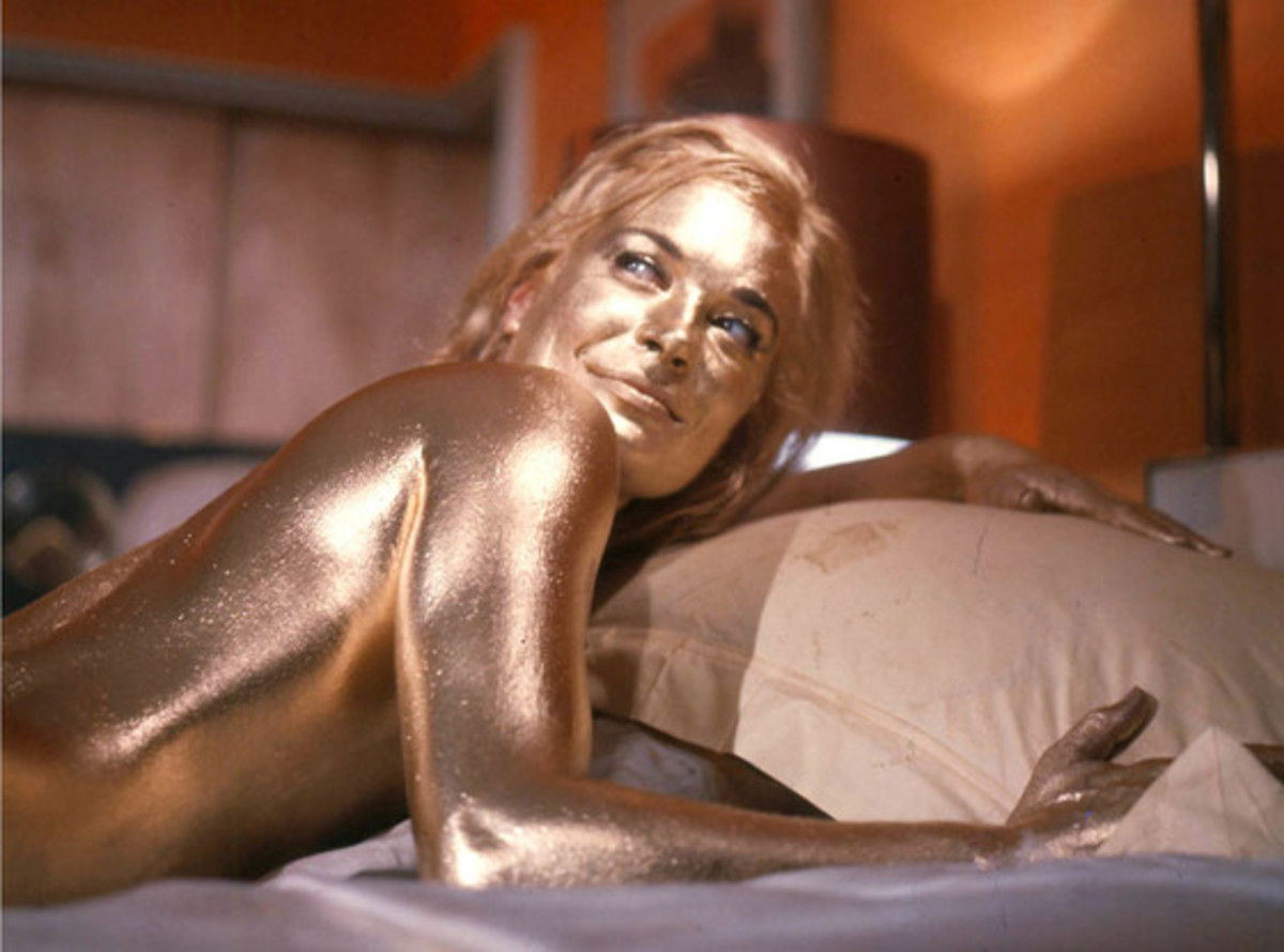 Shirley Eaton from Goldfinger (1964)