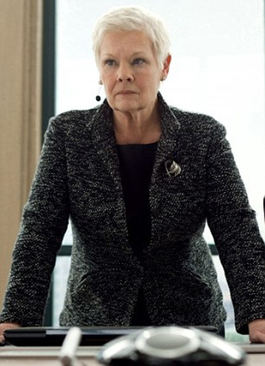 M, James Bond's boss at MI6, played by Judi Dench in the last several Bond films.  She didn't  survive in Skyfall.