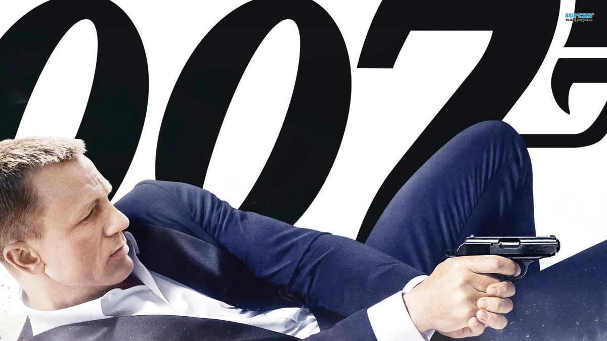 Daniel Craig, the current James Bond character in the films.