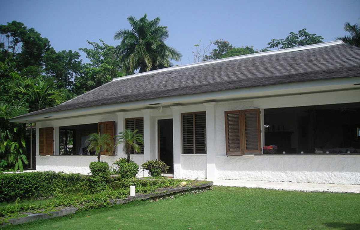 Ian Flemming's Goldeneye house and estate on the island of Jamaica in the Caribbean Sea.  This is where Flemming wrote his James Bond novels each winter.