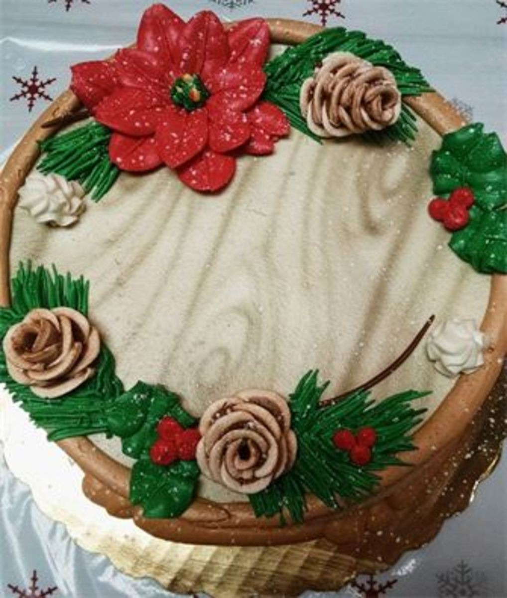 Christmas themed round cake