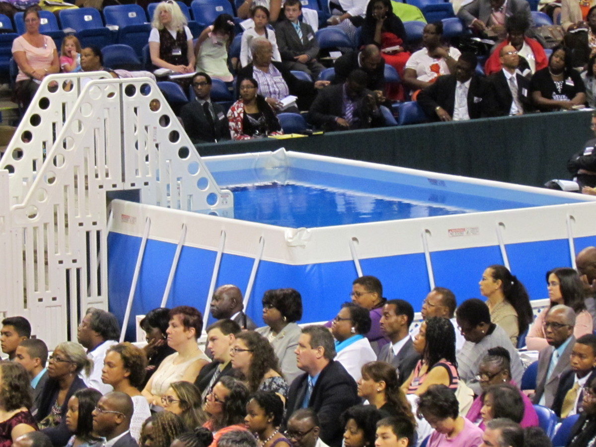 Through the tie in out of Atlanta, Georgia, it was announced that more than 1,300 individuals were baptized at the various conventions from New York, Texas, Florida and numerous other cities.