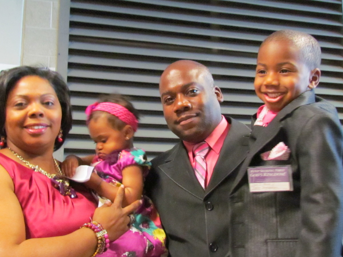 Devon and Sharonna, along with their children, expressed how much they enjoyed the Bible based information for families.