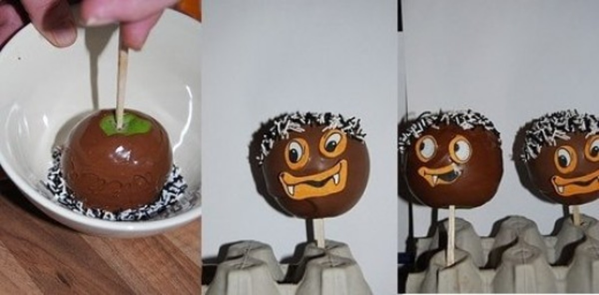 easy make chocolate  covered apples