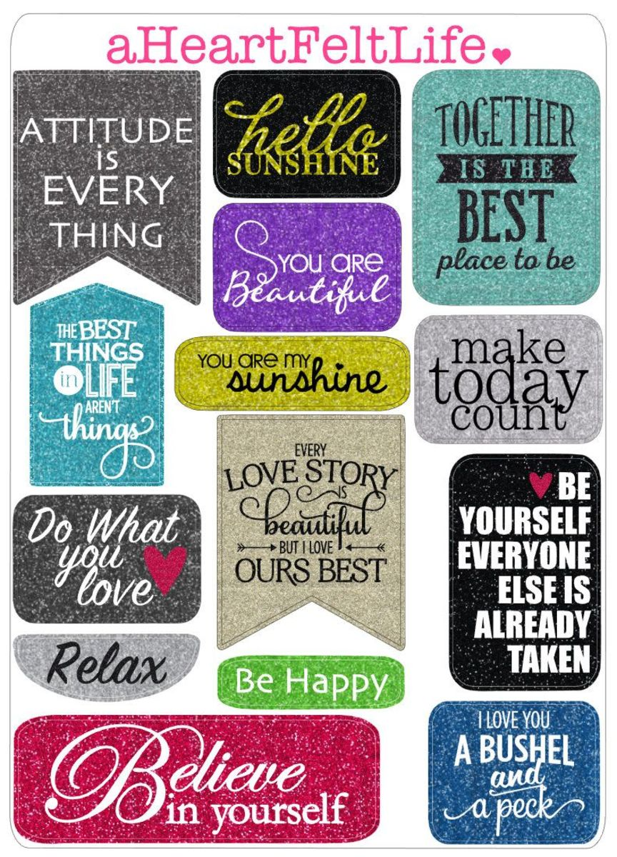 Consider using quote stickers. They are readily available in most craft stores and online
