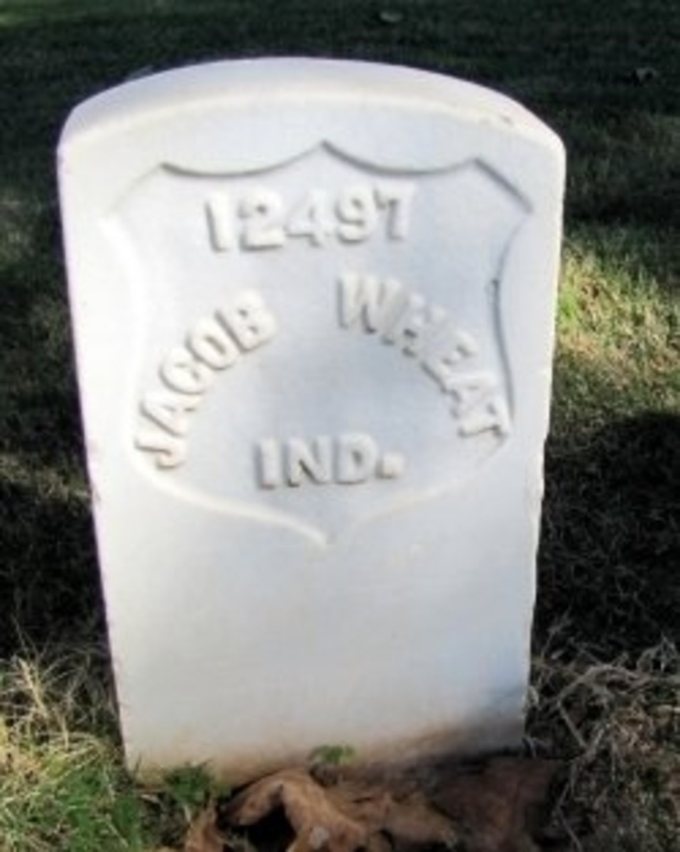 Another Indiana soldiers grave in the National Cemetery at Andersonville. photo by Virginia Allain I took it in the cemetery at Andersonville Prison. Thank goodness, my great-great grandfather did not die there like many of the men from his regiment.