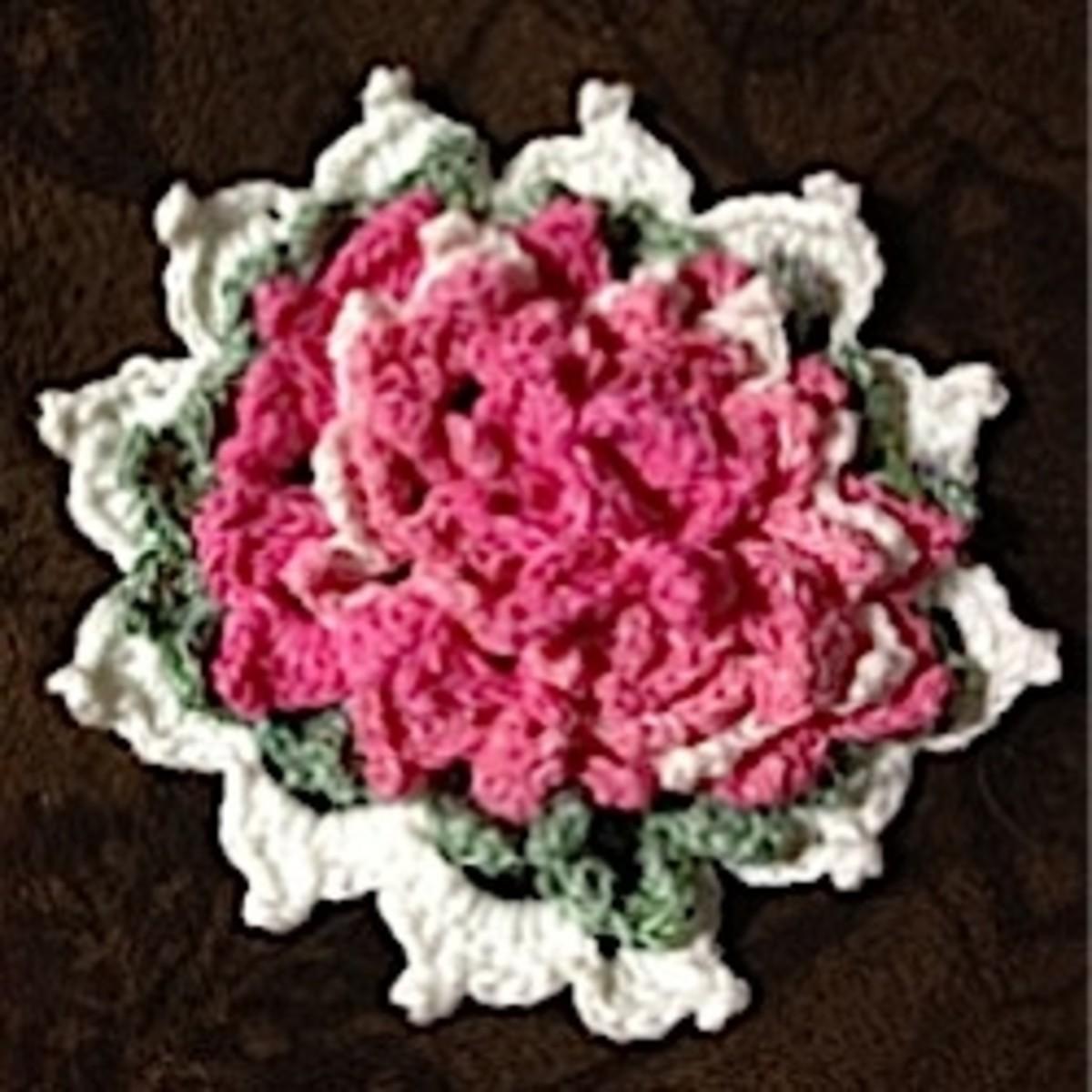 The Backward Rose Potholder Free Crochet Pattern