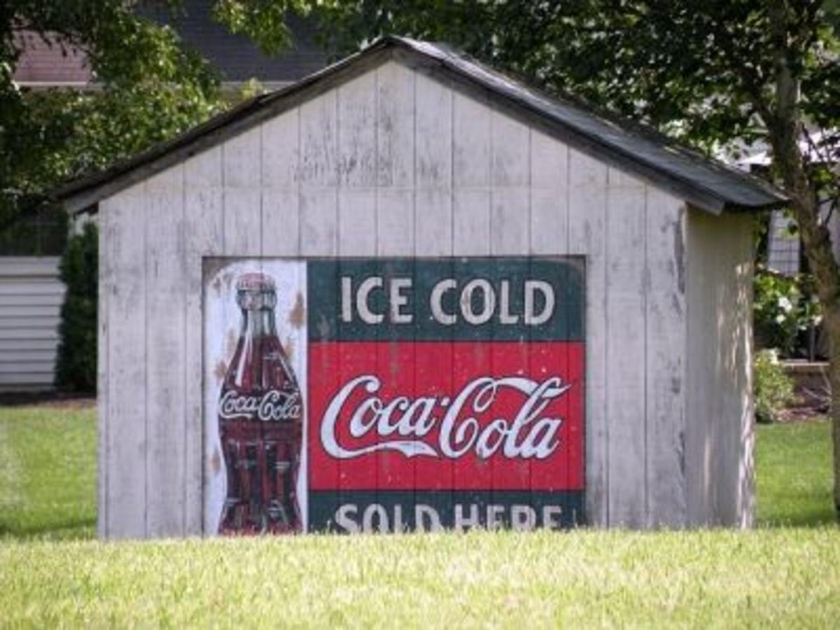 Coca Cola Barn Sign