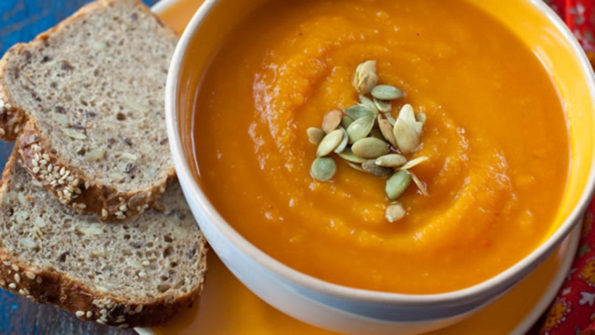 Pumpkin Soup with Granary Bread