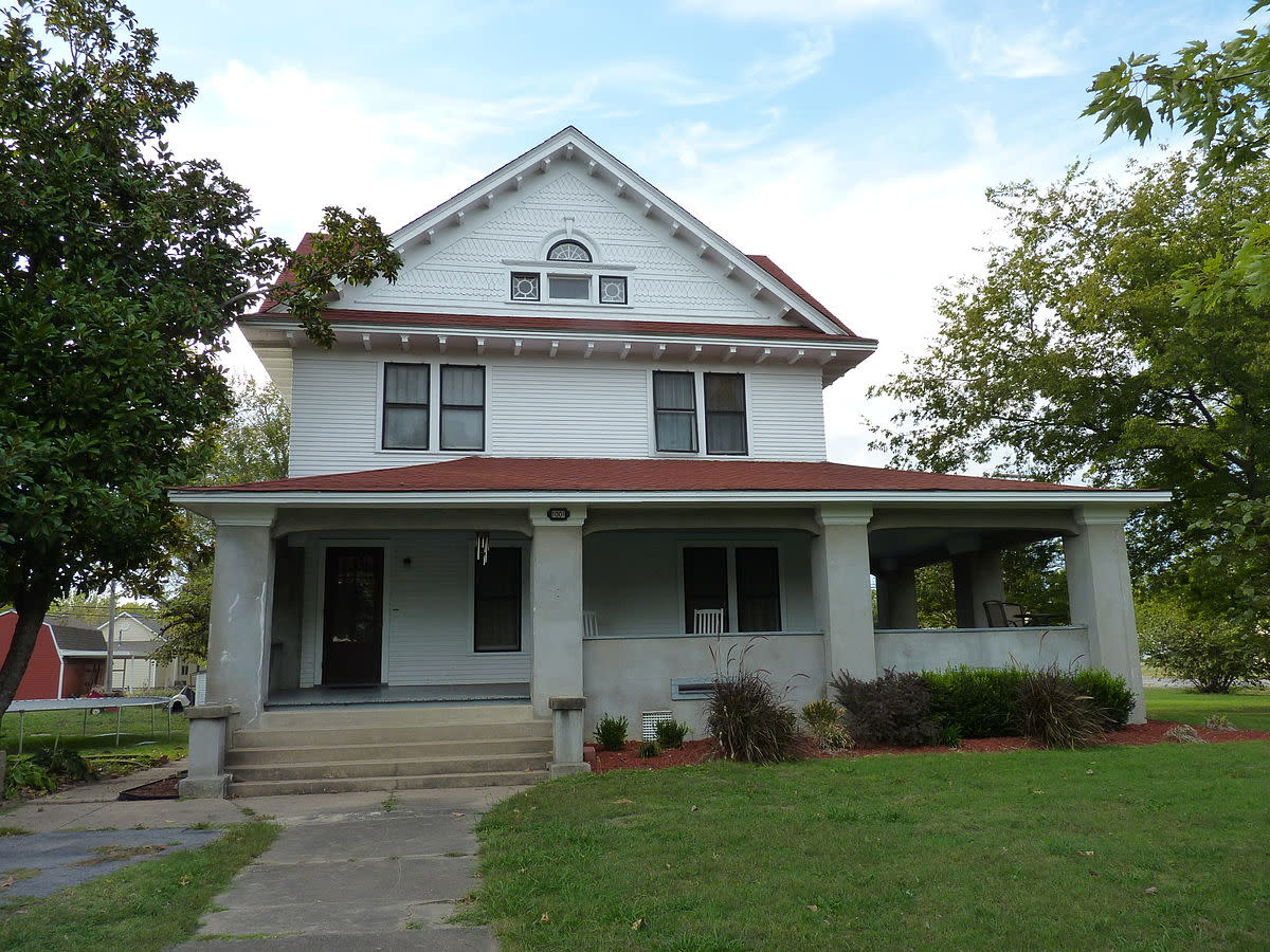 Hogue House in Chelsea, Oklahoma is on the National Register of Historic Places. Built from the Saratoga model in the SEARS catalog in 1912, it is thought to be the first SEARS kit home in Oklahoma.