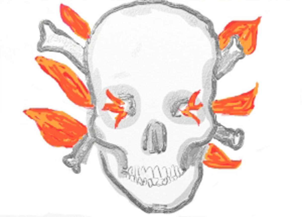 Burning Skull by Diana Grant