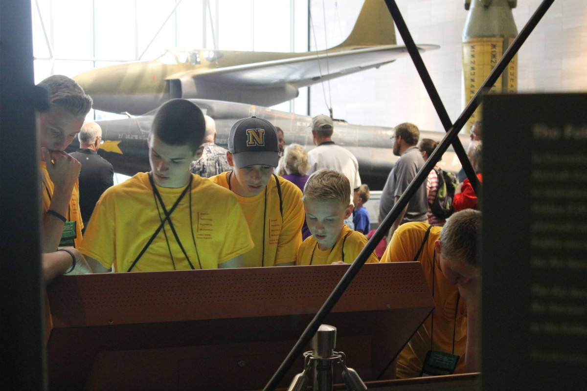 On Tuesdays, STEM campers visit the Air and Space museum.