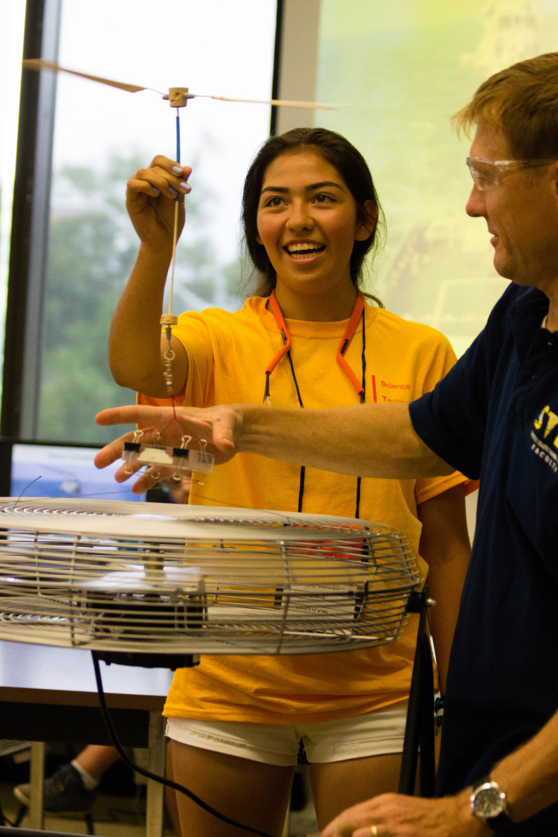 USNA Summer STEM students learn about the basics of physics and aerodynamics with hands on experiments and design contests.