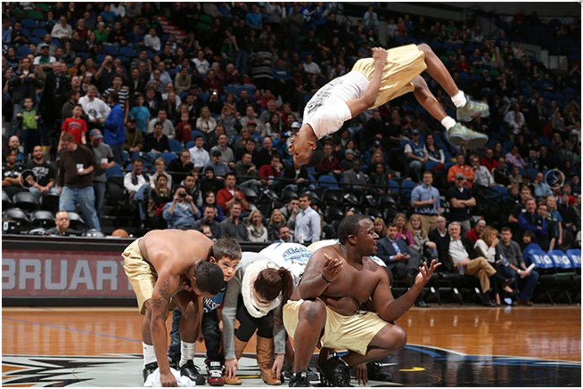 The Beale Street Flippers got worldwide recognition by performing at NBA games.