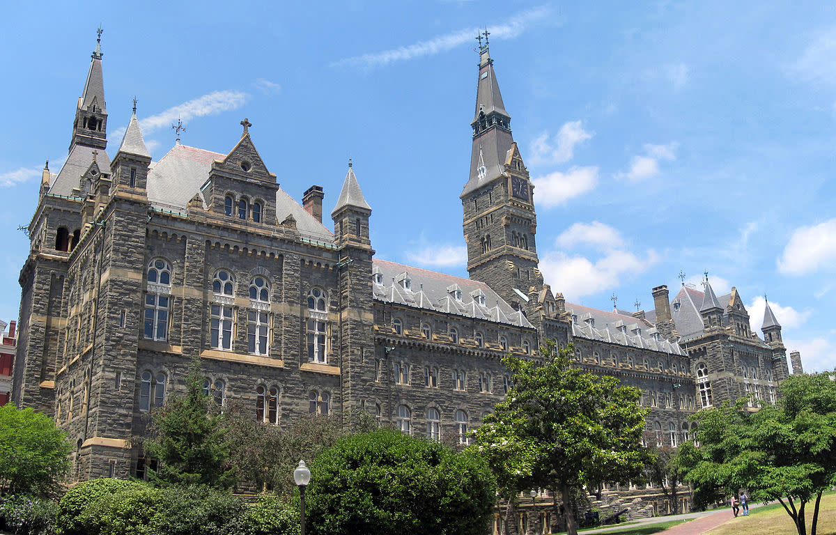 Healy Hall at Georgetown University houses classrooms and the university's executive body.