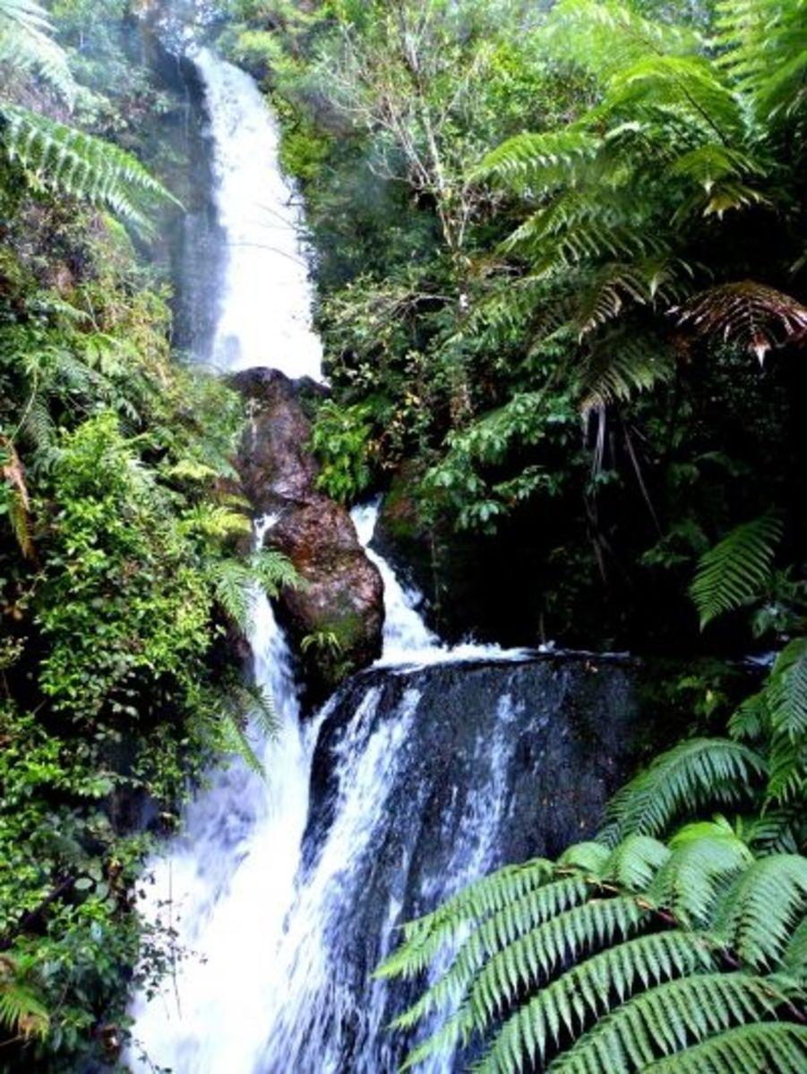 Waterfall at Buried Village