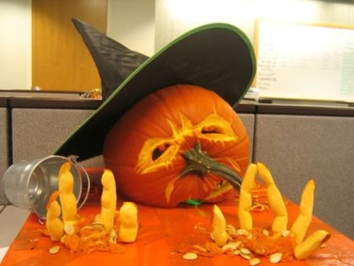 Melting Witch jack-o-lantern. Very clever. This photo was shared on Photobucket.