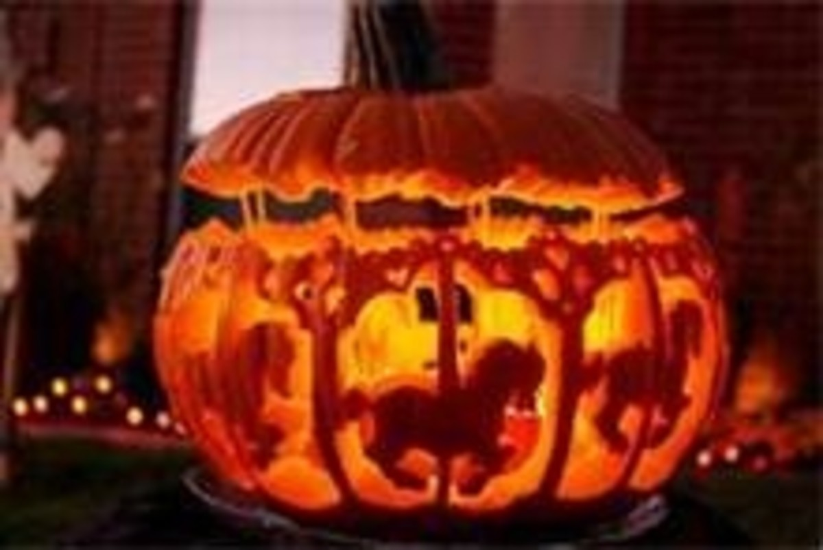 An exceptional carousel jack-o-lantern. This photo was shared on Flickr.