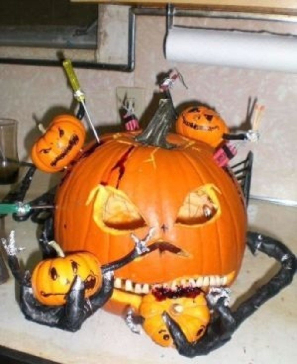 Parasite jack-o-lantern. Just too weird for words. Photo was shared on Photobucket.