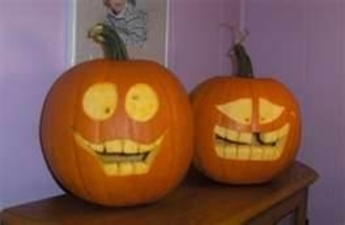 Jack-O-Lanterns don't have to be scary. Funny faces are great! Photo from hobbycentral.