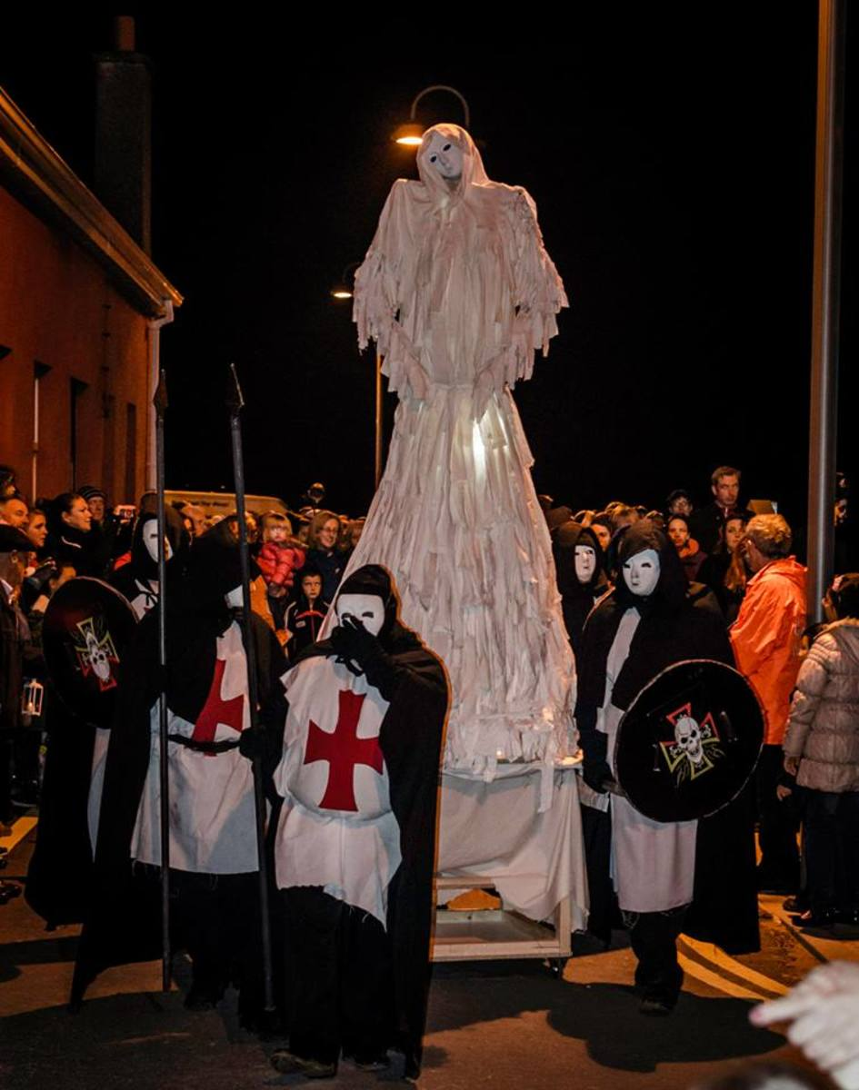 """An Bhean Uisce"" and Her Knights, Youghal Halloween Festival 2014"