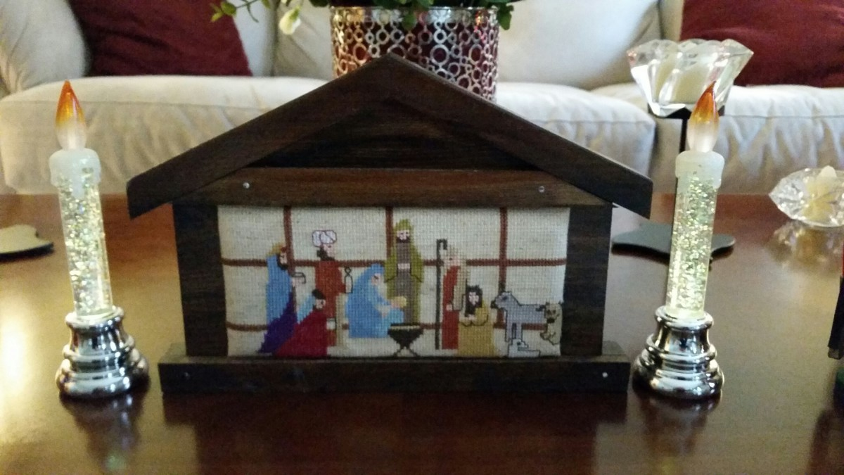 Needlepoint Nativity