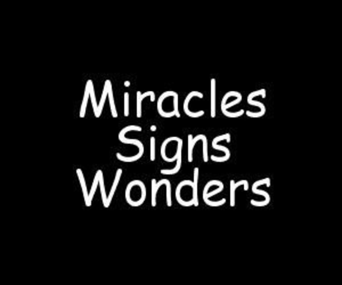 Miracles, Signs and Wonders: Similar but Different