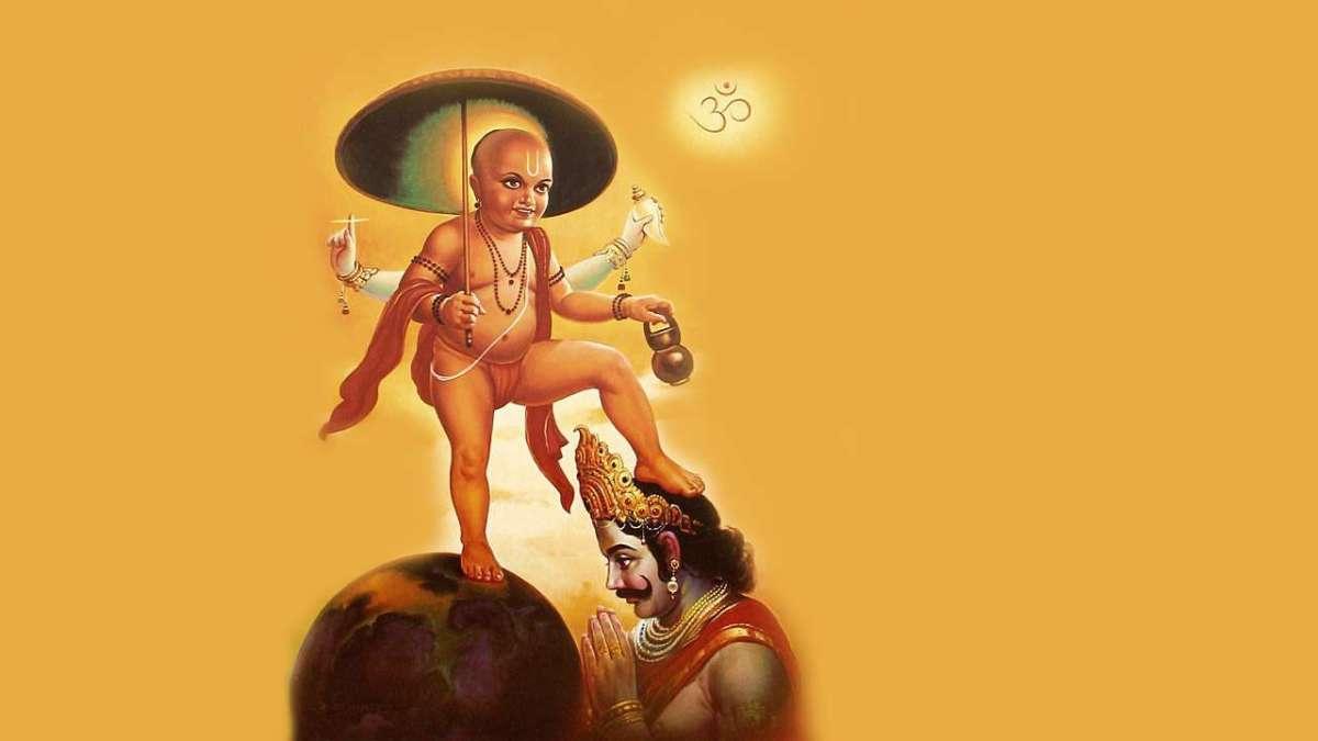 King Mahabali and Incoration of lord Vishnu